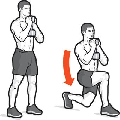 Nâng tạ qua khỏi đầu kết hợp với squat
